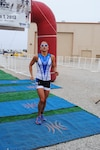 Air Force Lt. Samantha Morrison, who graduated from the U.S. Academy just three days before the June 1 Armed Forces Triathlon, finished in 2:07:39, taking gold for the women's group.
