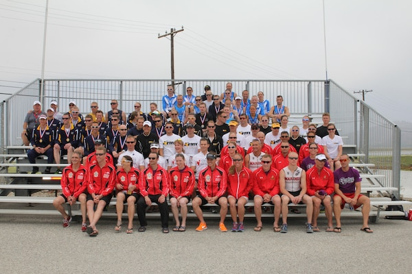 Athletes from across the Services to include Canadian Forces team compete at the 2013 Armed Forces Triathlon Championship at NBVC, CA on 1 Jun