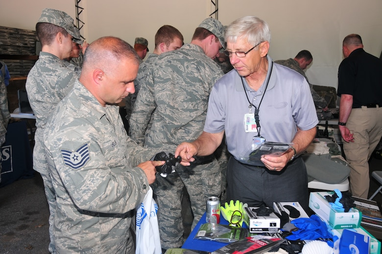 Industries for the Blind hosted the annual Vendor Fair and picnic supporting the 171st Air Refueling Wing's IBExpress store 5 Jun 2013. Eight vendors that have commercial contracts with Industries for the Blind came to the 171st to give Wing members a preview of products that are available through the IBExpress store on base. Although the 11 stores that the Industries for the Blind operates sell commercial products, many are made by visually impaired people. (U.S. Air National Guard Photo By: Tech. Sgt. Shawn Monk/Released)