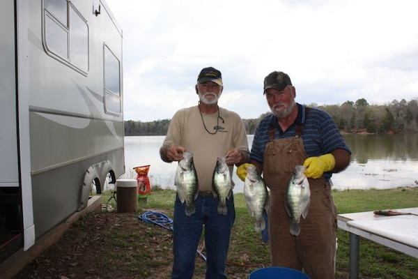 The Burns brothers caught a mess of crappie while Fishing Piney Bay Park on Lake Dardanelle last spring.