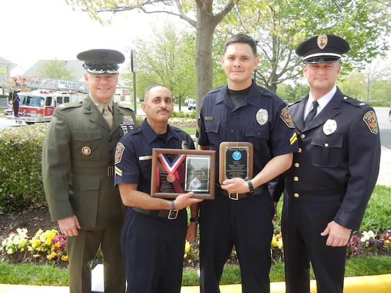 Two Quantico police officers honored at PWC Valor Awards > Marine