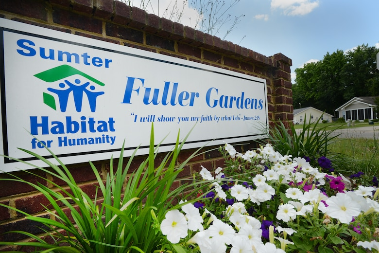 Fuller Gardens housing development is completely built by Habitat for Humanity volunteers and contractors and currently