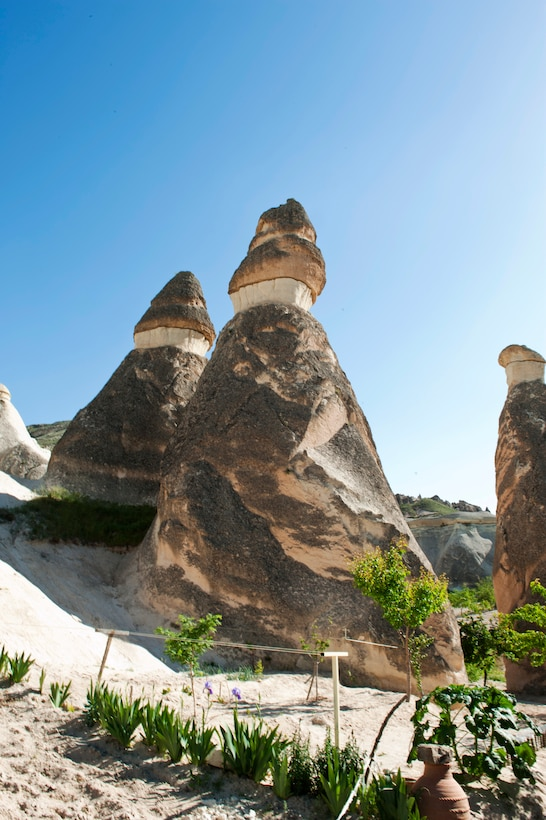 """Fairy Chimney"" rock formations stand tall in the Cappadocia region May 5, 2013, at Nevsehir Province, Turkey. Cappadocia is internationally renowned for its unique rock formations. (U.S. Air Force photo by Senior Airman Daniel Phelps/Released)"