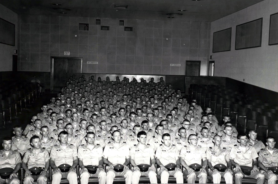 "MCGHEE TYSON AIR NATIONAL GUARD BASE, Tenn. – More than 120 officer candidates assemble for an early, unknown event. The Academy of Military Science (AMS) opened its doors April 12, 1971 as the Officer Preparatory Academy. It was renamed in 1973.  Accreditation granted in 1986 was retroactive to the school's inception with three semester hours in Management-Leadership and Communications and one semester hour in Defense Studies. Its mission was, ""To prepare high caliber men and women mentally, morally and physically to become commissioned officers. (U.S. Air National Guard file-photo/Released)"