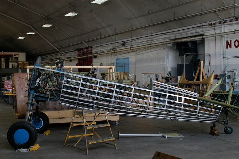 DAYTON, Ohio (06/2013) -- The PT-13D in the Restoration Hangar at the National Museum of the U.S. Air Force. (U.S. Air Force Photo)