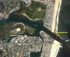 The Manasquan River project provides a safe, reliable navigation channel for commercial, recreational and U.S. Coast Guard use with an annual direct fish value of over $22 million per year. During the summer months, more than 500 vessels pass through the channel per day.