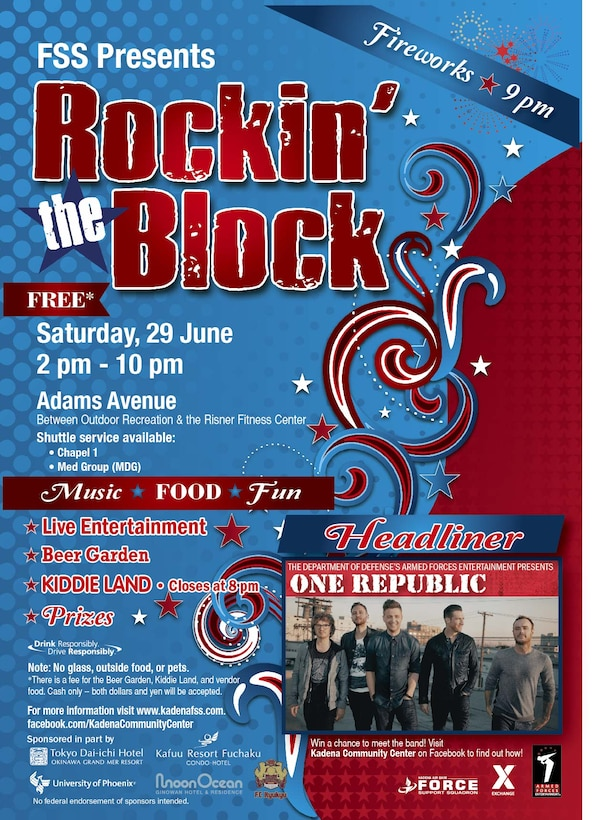 Rockin' the Block flyer