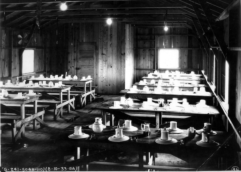 110th Observation Squadron, Missouri National Guard, mess hall at Robertson Field, Saint Louis, 1933.  (131st Bomb Wing file photo/RELEASED)