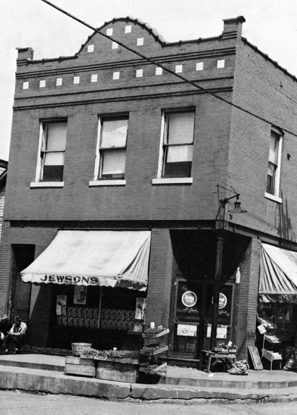 The grocery store headquarters of the 110th Observation Squadron, Missouri National Guard, on Olive Street Road in Saint Louis, circa 1926.  (131st Bomb Wing file photo/RELEASED)