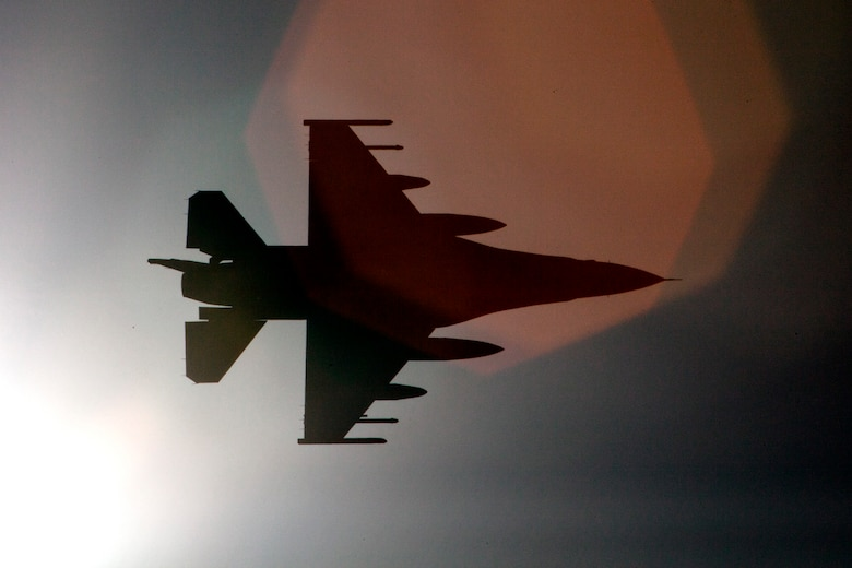 An F-16 Fighting Falcon from the 180th Fighter Wing, Ohio Air National Guard, arrives at a training base in Northern Jordan as part of Exercise Eager Lion. Eager Lion is a U.S. Central Command-directed, irregular warfare-themed exercise focusing on missions the United States and its coalition partners might perform in support of global contingency operations. (U.S. Air National Guard photo by Senior Master Sgt. John P. Rohrer)