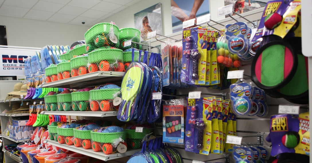 Patrons can buy beach gear, fishing equipment, barbecue essentials, foods, snacks and magazines for their beach adventure at the Onslow Beach Marine Mart aboard Marine Corps Base Camp Lejeune. The facility held a ribbon cutting June 4.