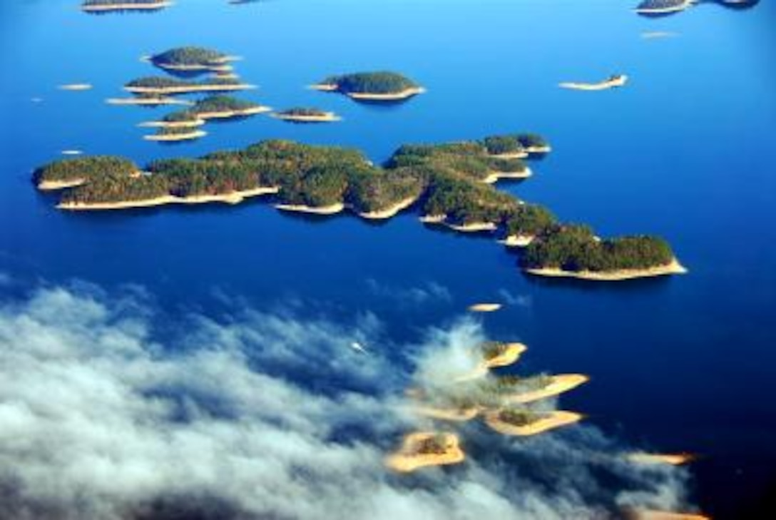 Islands on Lake Ouachita by Dan Valovich