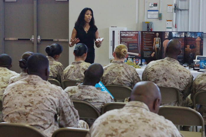 The Health and Wellness Fair hosted by the Maine Corps Community Service's Semper Fit Health Promotion Program provided Marines with various classes, which meet annual requirements such as alcohol awareness, drug prevention and suicide prevention.