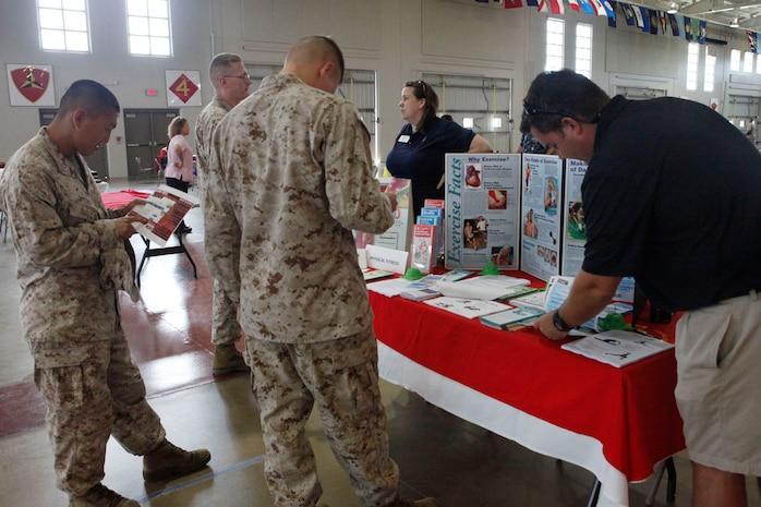 Organizations in the community such as Beaufort Memorial Hospital and the Beaufort County Alcohol and Drug Abuse Department also attended the fair to provide information and educate Marines.