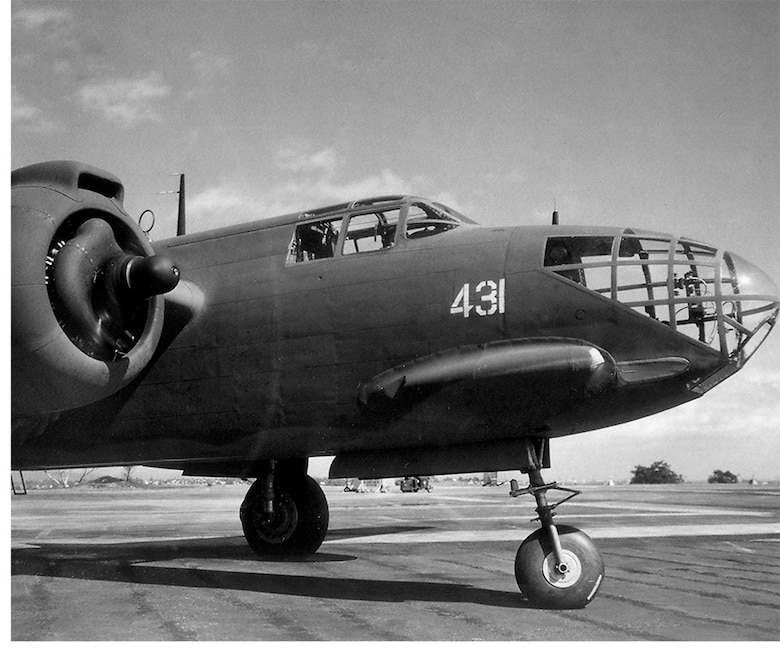 """Members of the 110th Reconnaissance Squadron flew the Douglas A-20 """"Havoc"""" during the early part of World War II. (131st Bomb Wing file photo/RELEASED)"""