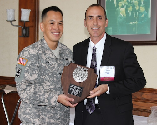 Col. Mark Toy, commander of the Los Angeles Ditrict of the U.S. Army Corps of Engineers, was honored by the Los Angeles Chapter of the Society of American Military Engineers during a luncheon June 11.