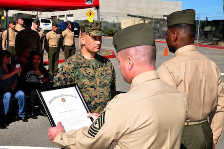 Master Gunnery Sergeant Anthony Magallanes' promotion on February 1st, 2013.