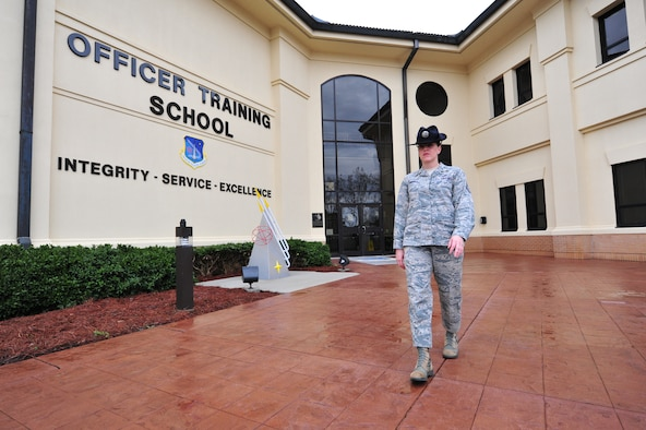 Technical Sgt. Leslie Cummings, the first and only female military training instructor in the Air National Guard, is also the first and only Air National Guardsman to be named the Air University Noncommissioned Officer of the Year. (U.S. Air Force photo by Senior Airman Christopher Stoltz)