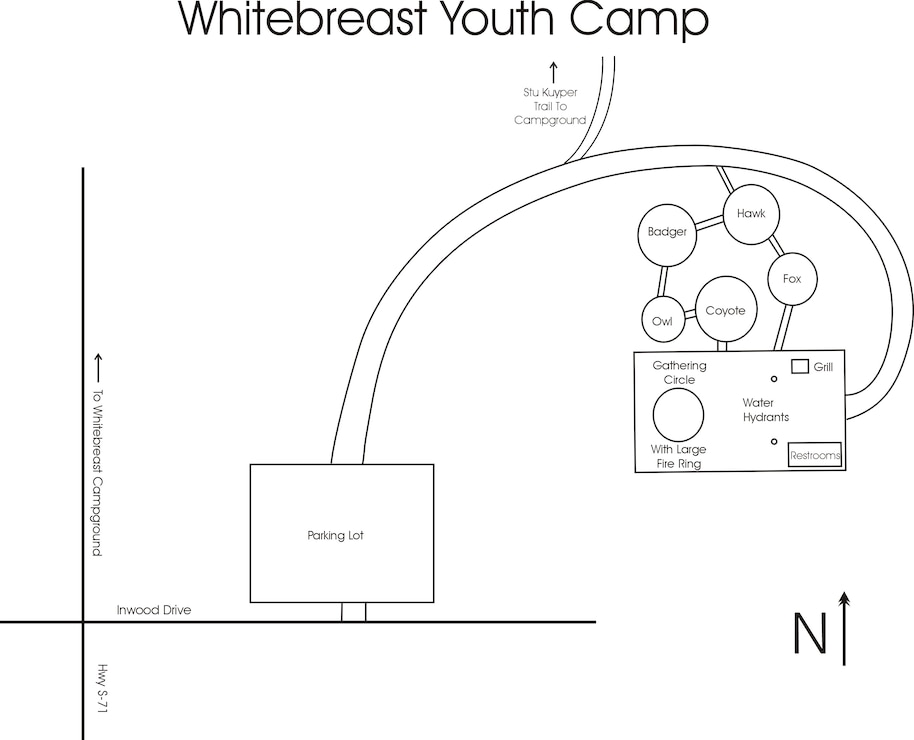 Whitebreast Youth Camp Map