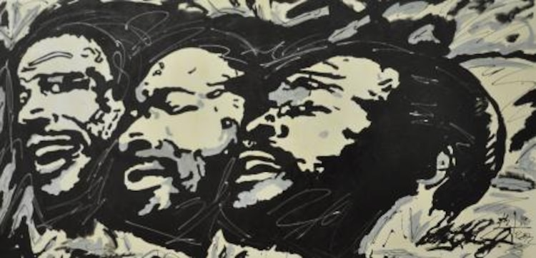 A painting of singer Marvin Gaye done by Anthony Plummer, a Maintenance worker with Installation and Logistics Division on Marine Corps Logistics Base Barstow. The painting was done for Cpl. Nicholas Williams, assistant barracks manager with Headquarters Battalion, MCLB Barstow, a friend of Plummer's.