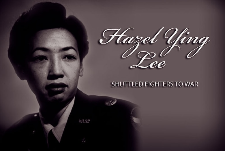 Hazel Ying Lee: First Asian-American pilot during World War II. (Graphic by Sylvia Saab)