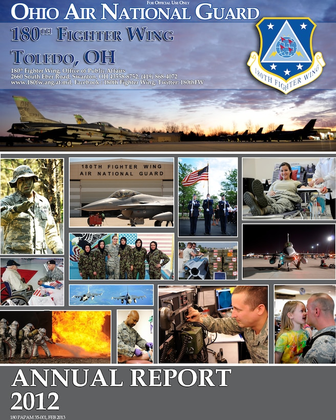 180th Fighter Wing 2012 Annual Report