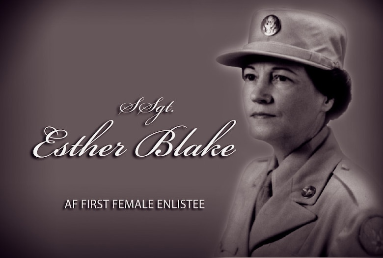 Staff Sgt. Esther Blake: First woman in the Air Force. (Graphic by Sylvia Saab)