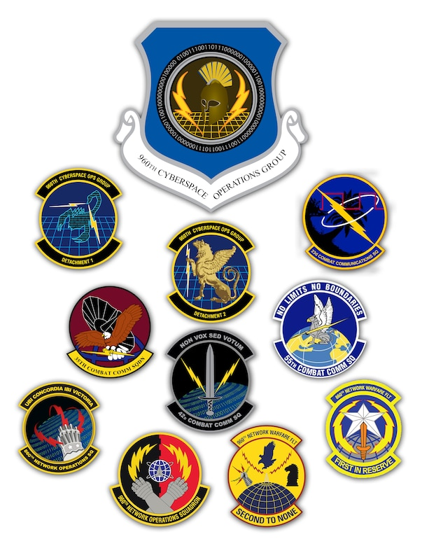 Air Force Reserve Command activated the 960th Cyberspace Operations Group at Joint Base San Antonio-Lackland, Texas, March 1, 2013. As the first cyberspace group in the Air Force, the 960th CYOG will have administrative control over 10 Reserve cyber organizations spread throughout the country. (U.S. Air Force graphic/Maria Eames)