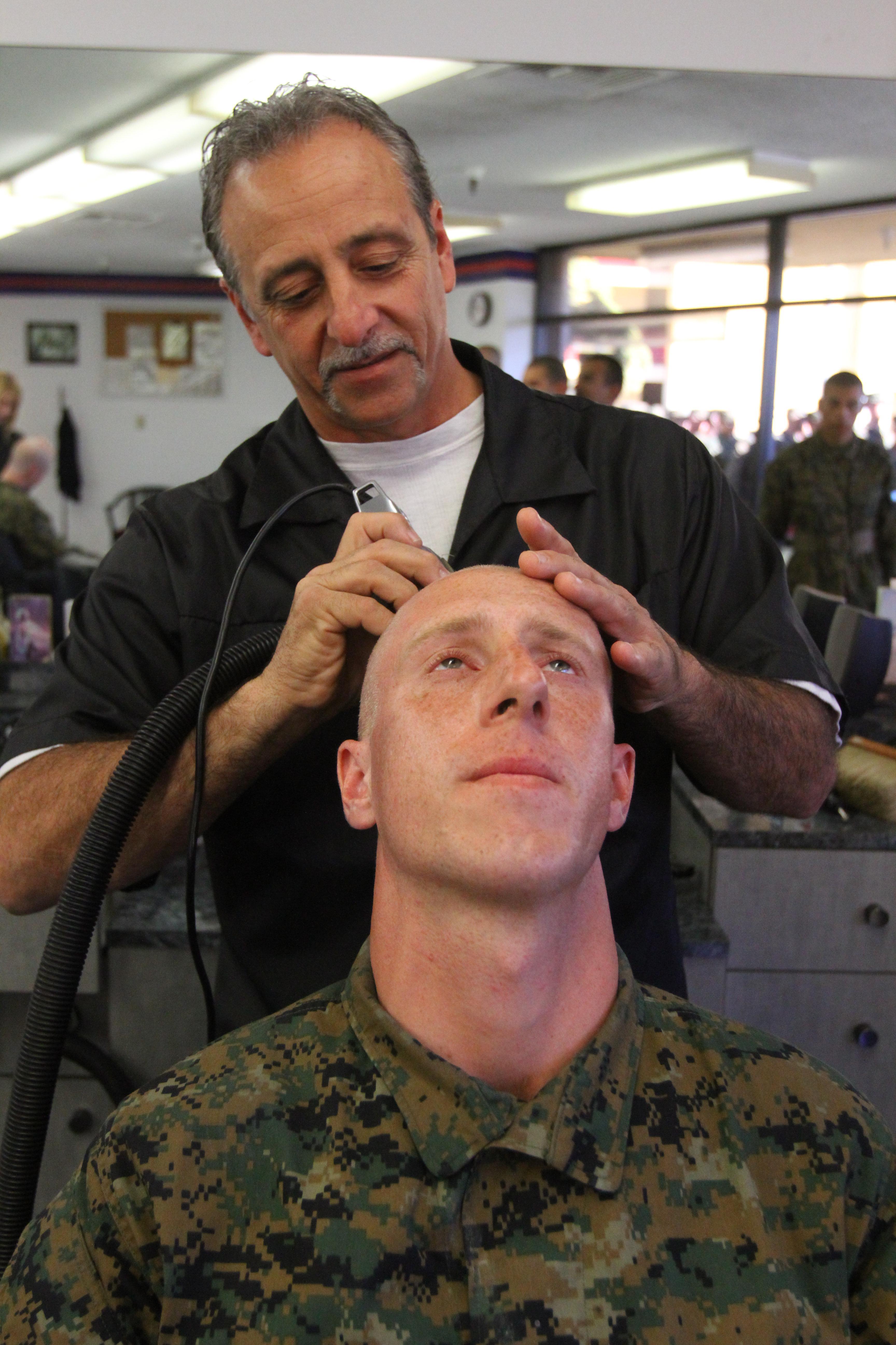 Weekly Haircuts Create Uniformity Marine Corps Recruit Depot San