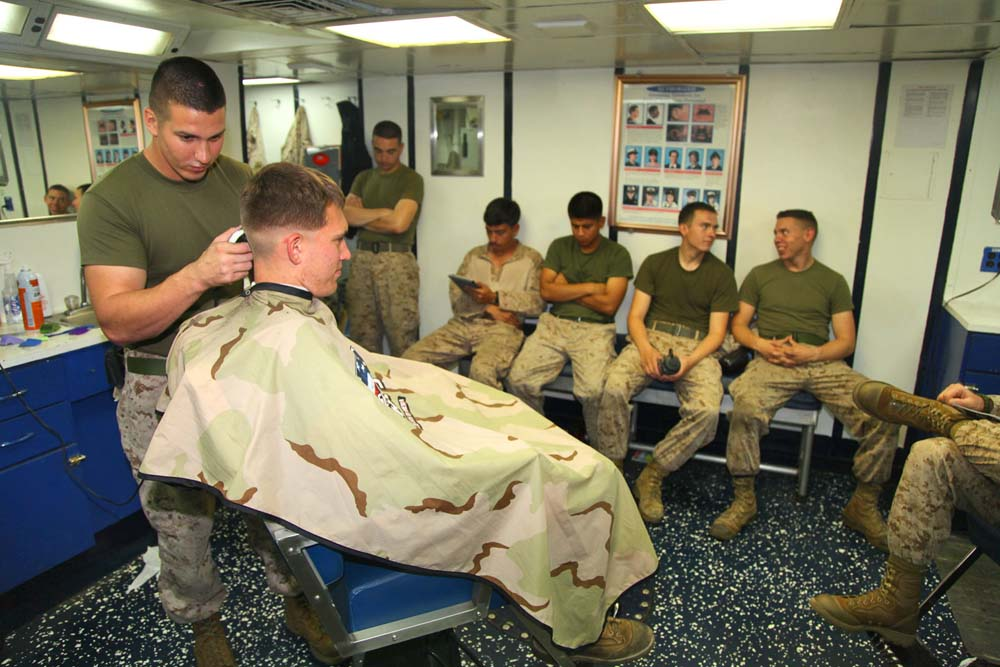Deployed Marines Ensure Everyone Looks Fresh With A New Haircut