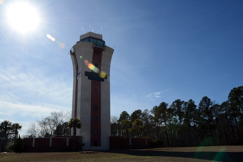 Photo of the control tower at McEntire Joint National Guard Base, S.C., Feb. 20, 2013. (National Guard photo by Tech. Sgt. Caycee Watson/Released)