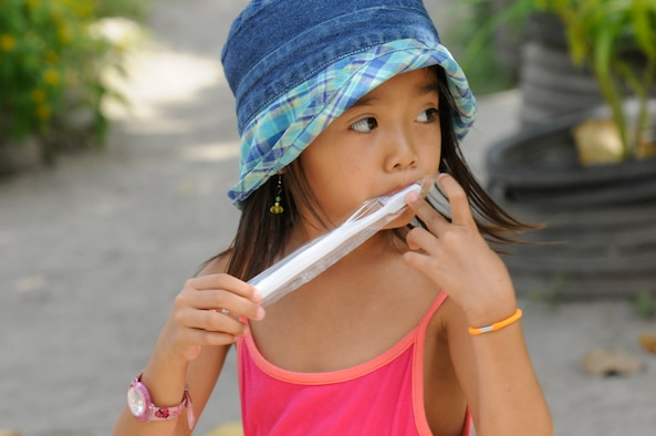 Image result for child brushing on toothbrush
