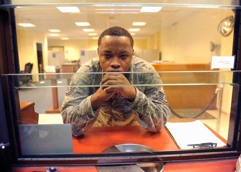 Angry, confused and even highly agitated Airmen and family members are sometimes found at customer service kiosks in comptroller squadrons around the Air Force, but many issues can be fixed by the customer themselves.  Programs and applications are in place to increase understanding of finance actions and to help members take a more proactive approach with their pay and entitlements. (U.S. Air Force photo by Staff Sgt. Marissa Tucker/Released)