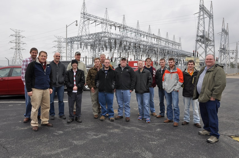 U.S. Army Corps of Engineer, Nashville District employees Michael Looney, Natural Resource Program Manager at the Lake Barkley Resource Center, Bob Sneed, Chief of Water Management and Jamie Holt, a power project specialist at the Lake Barkley power plant welcomed nine Students and four faculty from the University of Tennessee at Martin Hydrology and Hydraulics class for a Science, Technology, Engineering and Math to tour Feb. 28, 2013 at the Lake Barkley Resource Center, Lock and Dam. (USACE Photo by Mark Rankin)