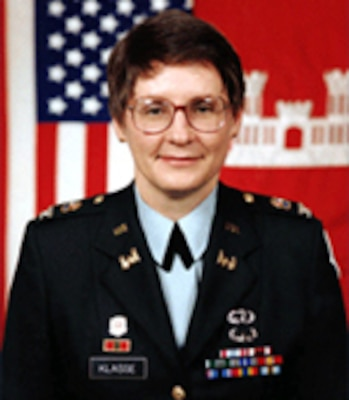 Retired U.S. Army Col. Dorothy F. Klasse became the first woman district commander in the Corps of Engineers when she led the Sacramento District from 1996-1998.