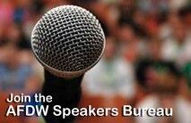 Join the AFDW Speakers Bureau