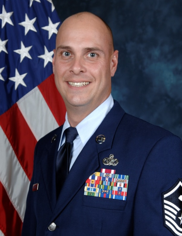 Master Sgt. Brett Hopkins, 437th Operations Support Squadron First Sergeant