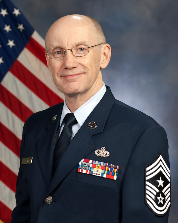 Command Chief Master Sgt. Ricky Sowell, Command Chief, 189th Airlift Wing.