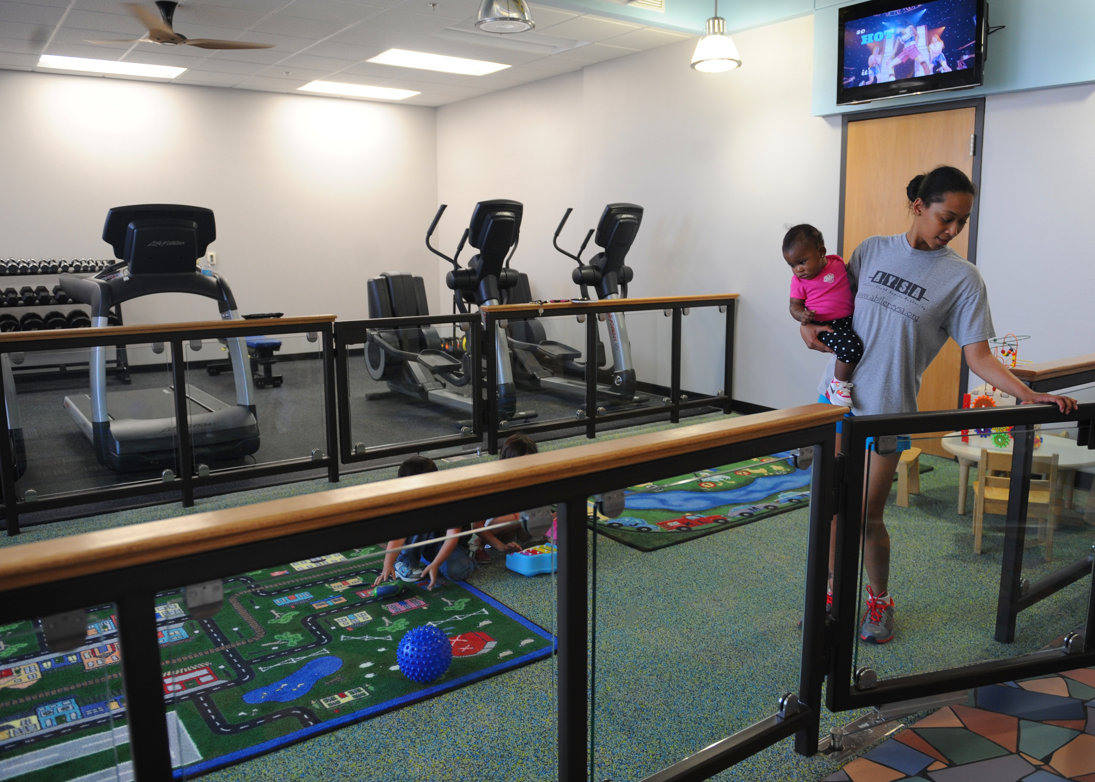 Dyess fitness center opens new parent child activity room u003e dyess