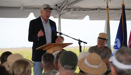 Secretary of the Interior Ken Salazar spoke alongside Assistant Secretary of the Army for Civil Works Jo-Ellen Darcy, Everglades National Park Superintendent Dan Kimball,  and South Florida National Parks Trust Board Chairman Neal McAliley at the Tamiami Trail One-Mile Bridge Opening Ceremony March 19, 2013, in Miami, Fla.