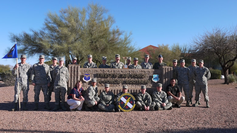 The 612th Support Squadron was awarded the 2012 E.D. Jewett Award by the Tucson Metropolitan Chamber of Commerce, March 7. The E.D. Jewett Award recognizes the squadron at Davis-Monthan AFB that best represents the finest tradition of military excellence and community involvement in the previous year. (Courtesy photo).