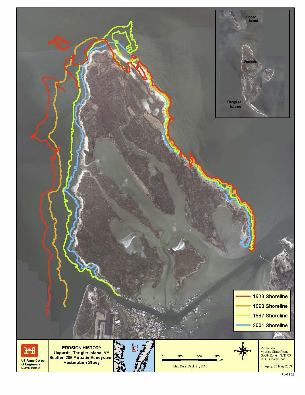 Tangier Island Virginia Map.For Eroding Island Engineers Efforts Start With Models Norfolk