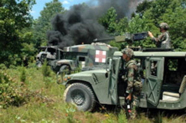 Guard troops, commanders test exportable training system