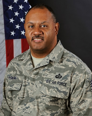 Chief Master Sgt. Everett Perkins, with the 169th Fighter Wing at McEntire Joint National Guard Base, S.C., March 3, 2013.