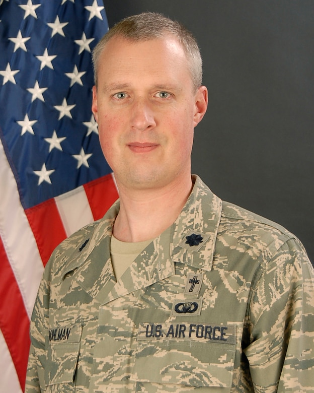 Lt. Col. Brian Bohlman, 169th Fighter Wing Chaplain at McEntire JNGB, S.C., February 1, 2012. (National Guard photo by Tech. Sgt. Caycee Watson/Released)