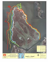 Historic shoreline erosion is one of the data sets being utilized by the Corps' modeling experts. The end result will assist Norfolk District engineers with designing a jetty that will maxi
