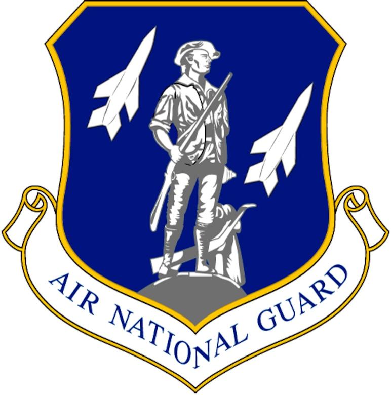 Air National Guard Logo,  blue background