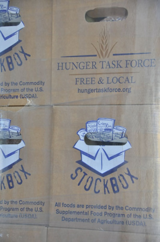 Founded in 1974, the Hunger Task Force is Wisconsin's premier anti-hunger organization. They currently occupy a warehouse once used by the former General Mitchell Air Reserve Station. [Photo by: Scott Johnston]