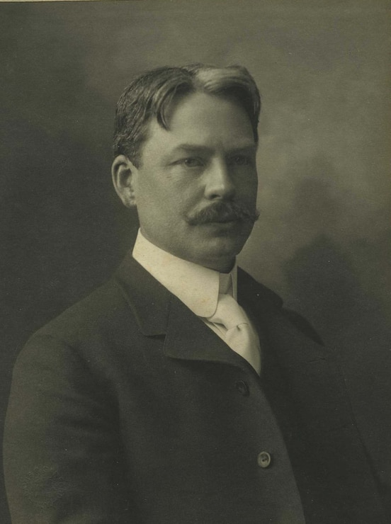 Portrait of Edward MacDowell, an American composer and pianist for whom Edward MacDowell Dam was dedicated July 28, 1950. Prior to this, it was known as the West Peterborough Dam. Photo taken circa 1900.