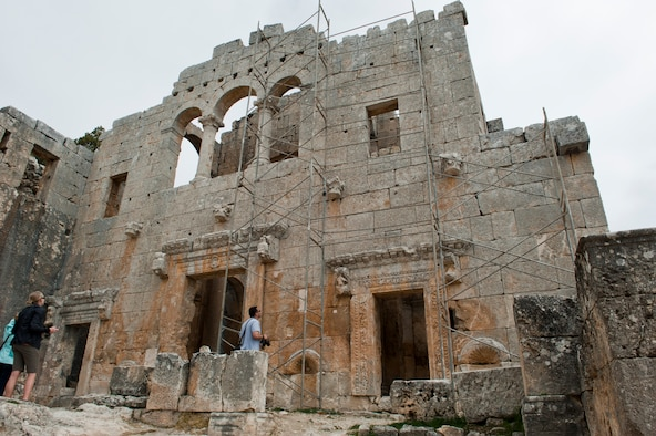 Visitors to Alahan Monastery gaze at its impressive architecture and remains March 31, 2013, in Turkey. Though more than 1,400 years old, many of the remnants of the monastery remain intact. Alahan is one of several trips offered by various base agencies at Incirlik Air Base, Turkey. (U.S. Air Force photo by Senior Airman Daniel Phelps/Released)
